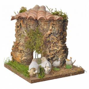Animated nativity scene figurine, sheep browsing 12-18cm s1