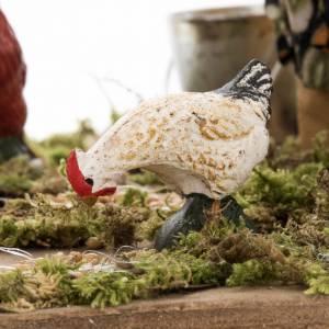 Animated nativity scene, woman feeding geese 14 cm s4
