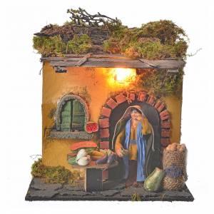 Animated Neapolitan nativity figurine, greengrocer 10cm s1