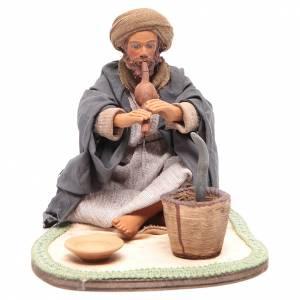 Neapolitan Nativity Scene: Animated Neapolitan Nativity figurine Snake charmer 24cm