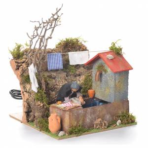 Animated washerwoman, 10cm Neapolitan Nativity s2