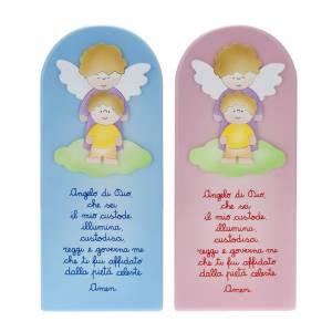 Płaskorzeźby różne: Anioł stróż z modlitwą obrazek płaskorzeÅ
