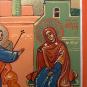 Russian hand-painted icons: Annunciation miniature icon