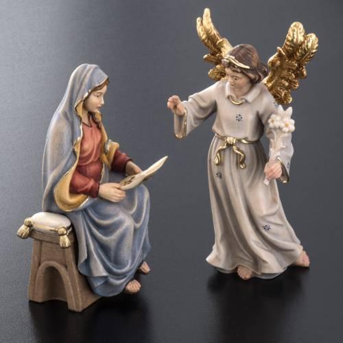 Anuncio del ángel a la Virgen María madera pintada s4