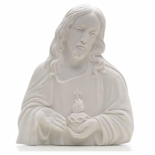 Applique Sacré Coeur de Jésus marbre s1