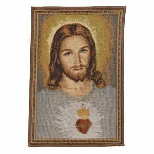 Arazzo Sacro Cuore di Gesù 32x23 cm s1