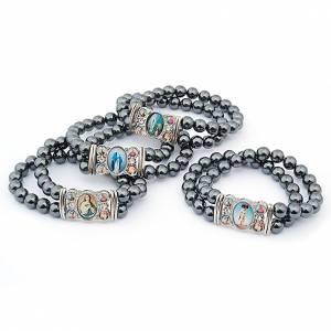 Religiöse metallische Armbänder  mit Bilder: Armband Multibilder Hematit