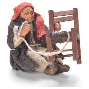 Belén napolitano: Arreglador de sillas sentado 10 cm