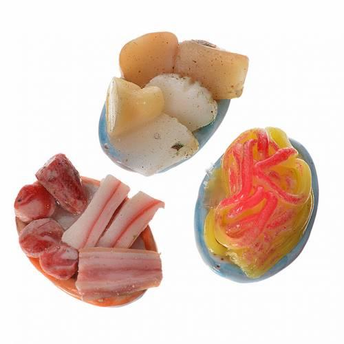 Assiette ovale nourriture assortie pour crèche 2,5x1,5 cm s2