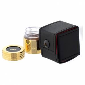 Astuccio e vasetto in vetro dorato olio infermi s2