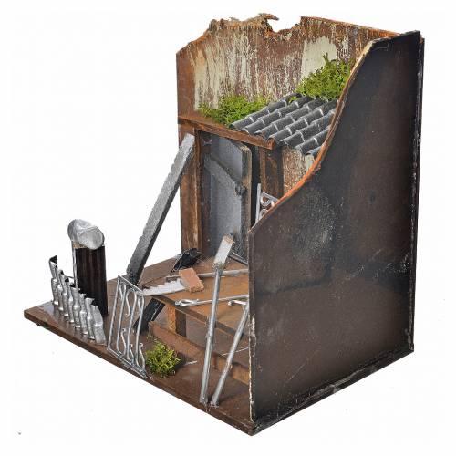 Atelier forgeron crèche 20x14x20 cm s3
