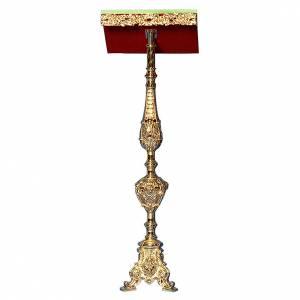Atriles con columna: Atril con columna latón fundido y oro 24K estilo barroco