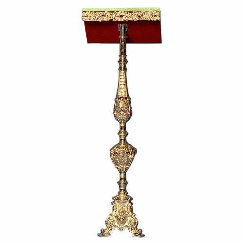 Atril con columna latón fundido y oro 24K estilo barroco s1