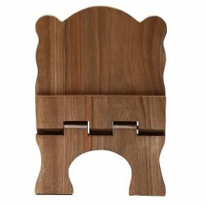 Atril de mesa de madera de nogal simple Monjes de Belén s5