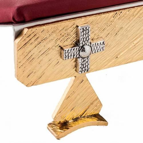 Atril de mesa latón cruces s4