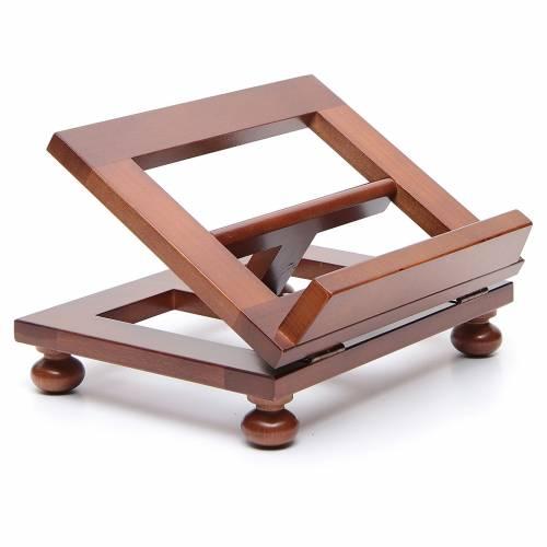Atril de mesa madera de nogal 25x20 cm s3
