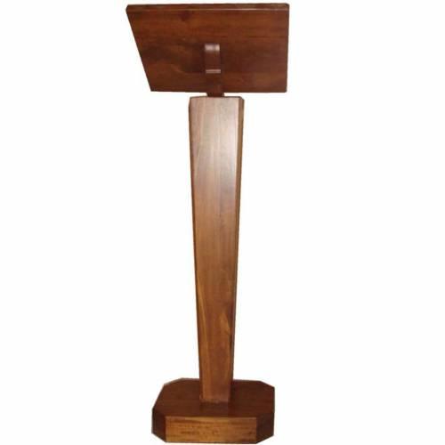 Atril de pie de madera maciza con altura regulable s2