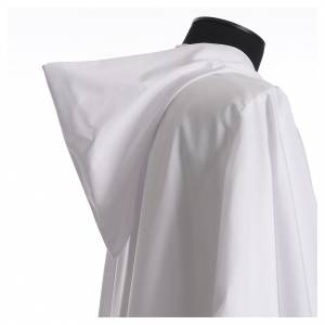 Aube liturgique avec capuchon en coton et polyester s3