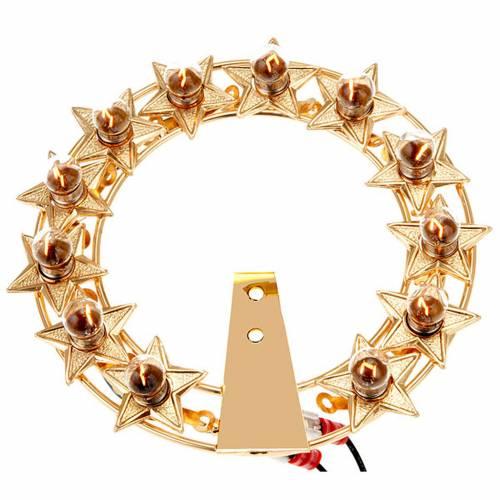 Aureola luminosa Lampadine ottone dorato s1