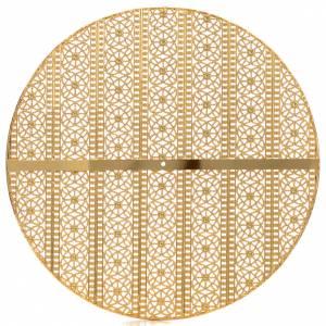 Auréole laiton doré et décors s2