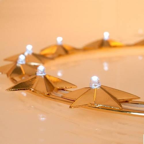 Auréole lumineuse avec ampoules laiton doré, 30 cm s4