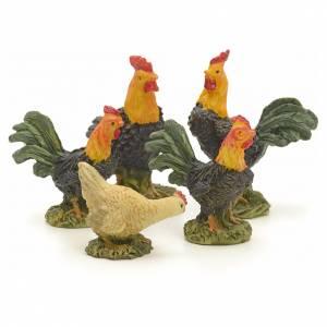 Animales para el pesebre: Aves pesebre cm 12 set 5 pz