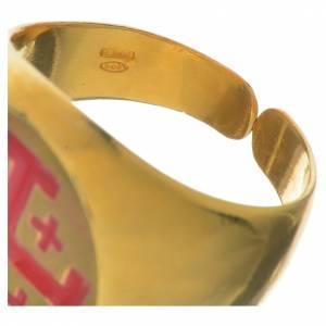 Bague évêque argent 800 doré croix Jérusalem s4