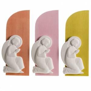 Bajorrelieve base de colores con ángel s1