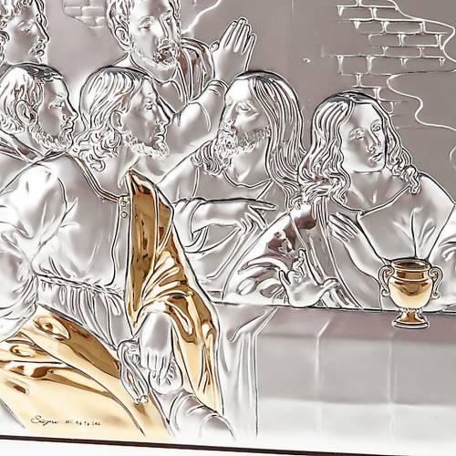 Bajorrelieve oro-plata última cena de Leonardo s4