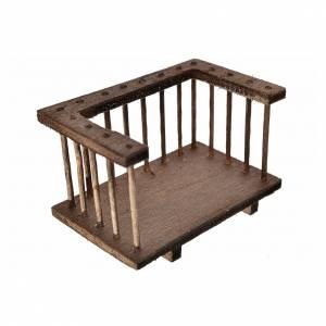 Balcone legno presepe7x3,5x4 cm s2