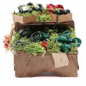 Banc légumes en vrac 8x9x7 cm crèche Naples s1