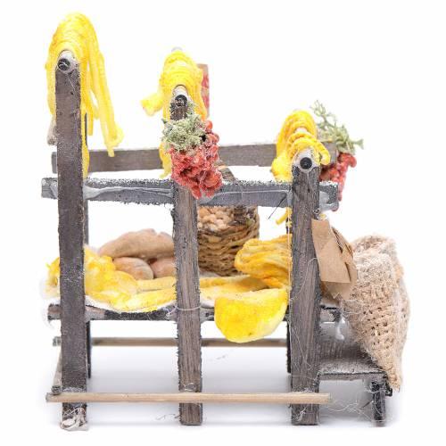 Banchetto con pasta e sacchi presepe napoletano s1