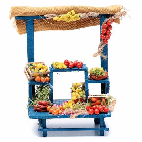Banco frutta 15X14X9 cm per presepe napoletano s1