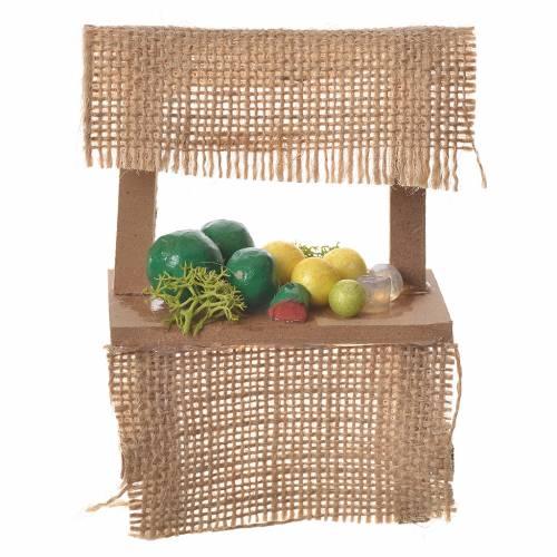 Banco frutta presepe 10,5x7x4,5 cm s1