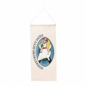 Tapisseries religieuses: STOCK Bannière logo Jubilé broderie appliquée 18x40 cm