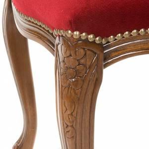 Ambones, reclinatorios, mobiliario religioso: Banqueta tipo barroco de madera de nogal