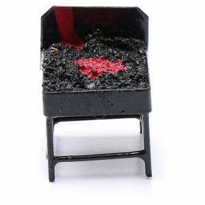 Accessori presepe per casa: Barbecue metallo presepe h reale 3 cm