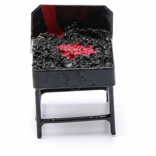 Barbecue metallo presepe h reale 3 cm s1