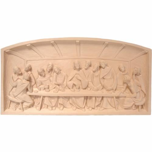 Bas-relief Cène bois Valgardena naturel s1