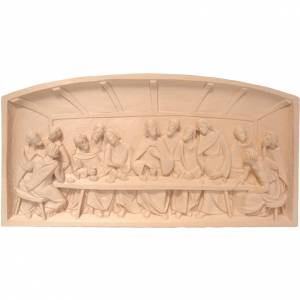 Bas-relief, Last Supper in natural Valgardena wood s1