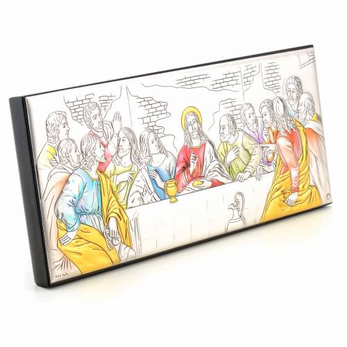 Bas-relief Last Supper, silver and colours s2