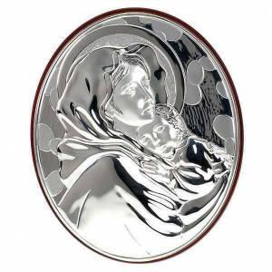 Bas relief or et argent, vierge de Ferruzzi, ovale s1