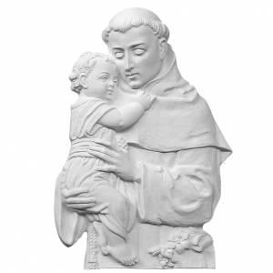 Bas relief St Antoine de Padoue marbre 32 cm s1