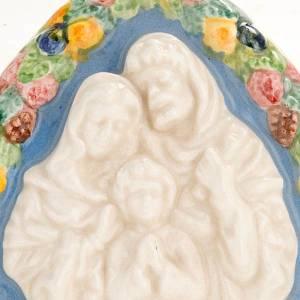 Bas relief, triangular Holy Family s2