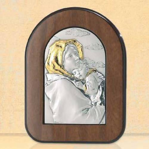 Bas-relief Vierge du Ferruzzi argent or s1