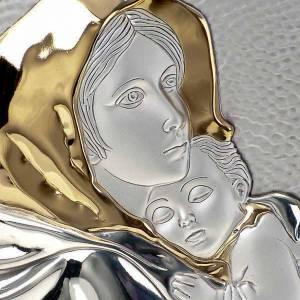 Bassorilievo bilaminato oro arg. Madonna Ferruzzi ovale base dri s3