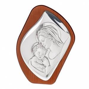 Silber Basreliefs: Bassrelief Silber Mutter mit Kind