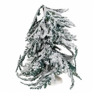 Moos, Stroh und Bäume für Krippe: Baum mit Schnee 15cm groß