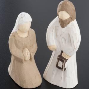 Belén Val Gardena: Belén estilizado de madera 10,5 cm.