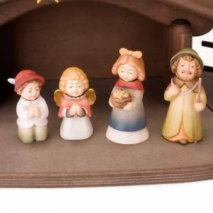 Belén Val Gardena: Belén Niños madera con imanes